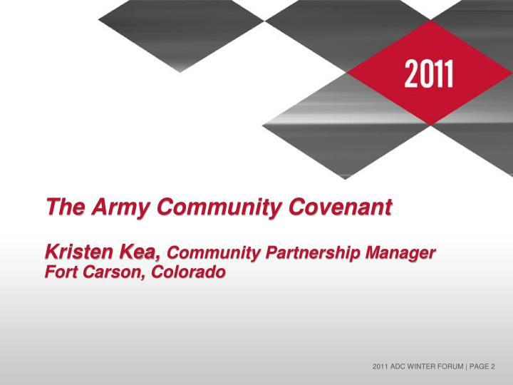 The army community covenant kristen kea community partnership manager fort carson colorado