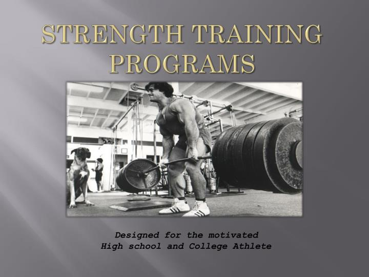 strength training programs n.