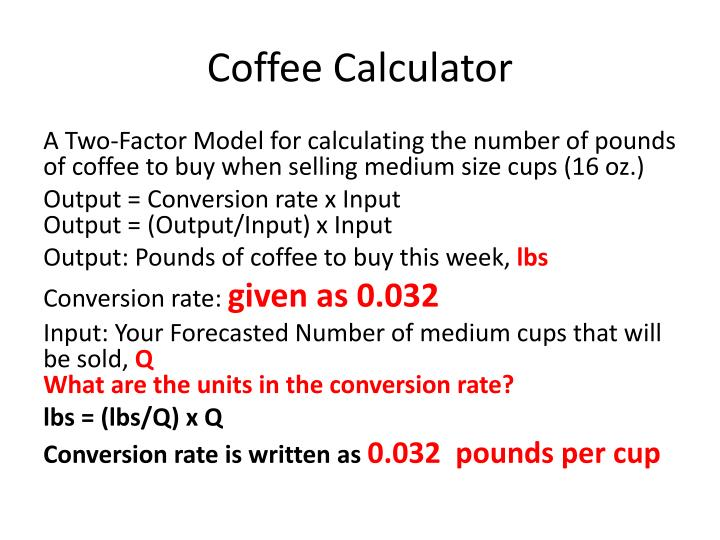 Coffee Calculator