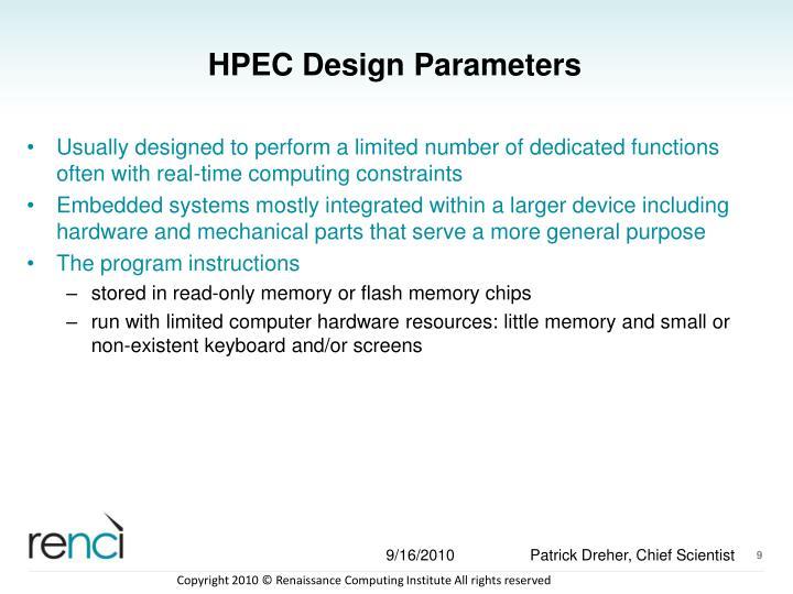 HPEC Design Parameters