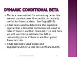 dynamic conditional beta