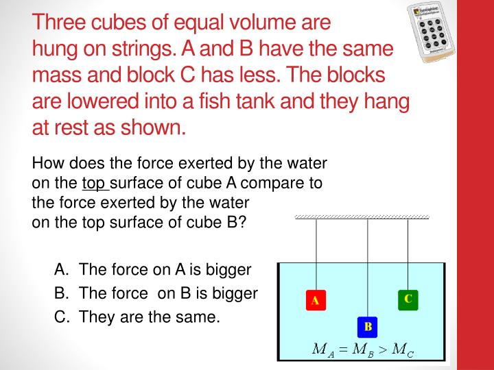 Three cubes of equal volume are