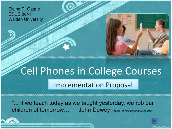 cell phones in college courses n.