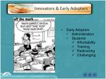 innovators early adopters