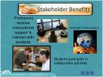 stakeholder benefits