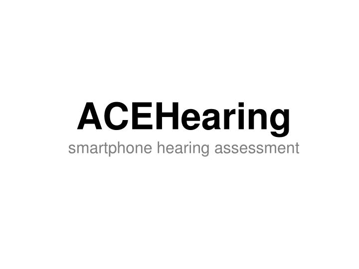 ACEHearing