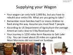 supplying your wagon