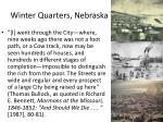 winter quarters nebraska