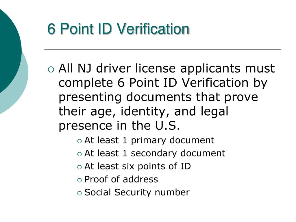 PPT - NJ Driver License System PowerPoint Presentation - ID