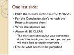 one last slide