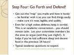 step four go forth and defend