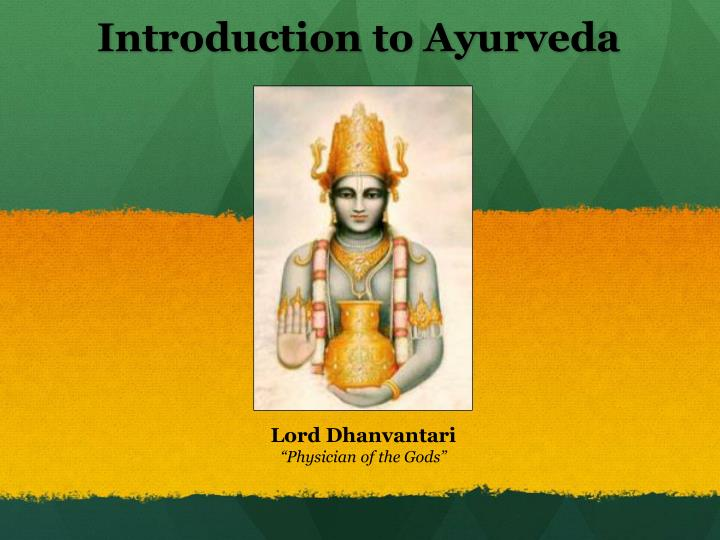 introduction to ayurveda n.
