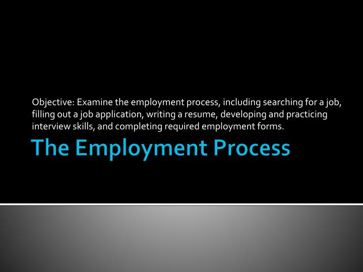 the employment process n.
