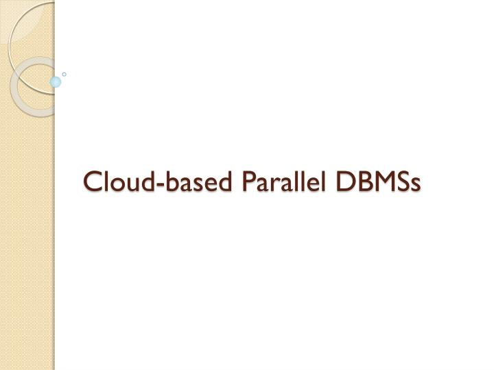 Cloud-based Parallel