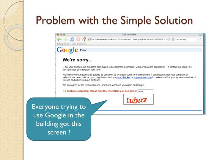 Problem with the Simple Solution