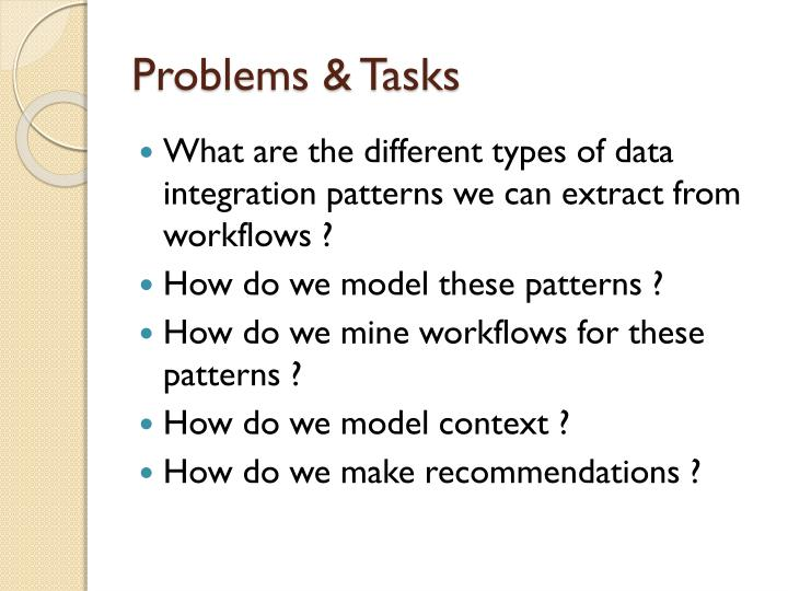 Problems & Tasks