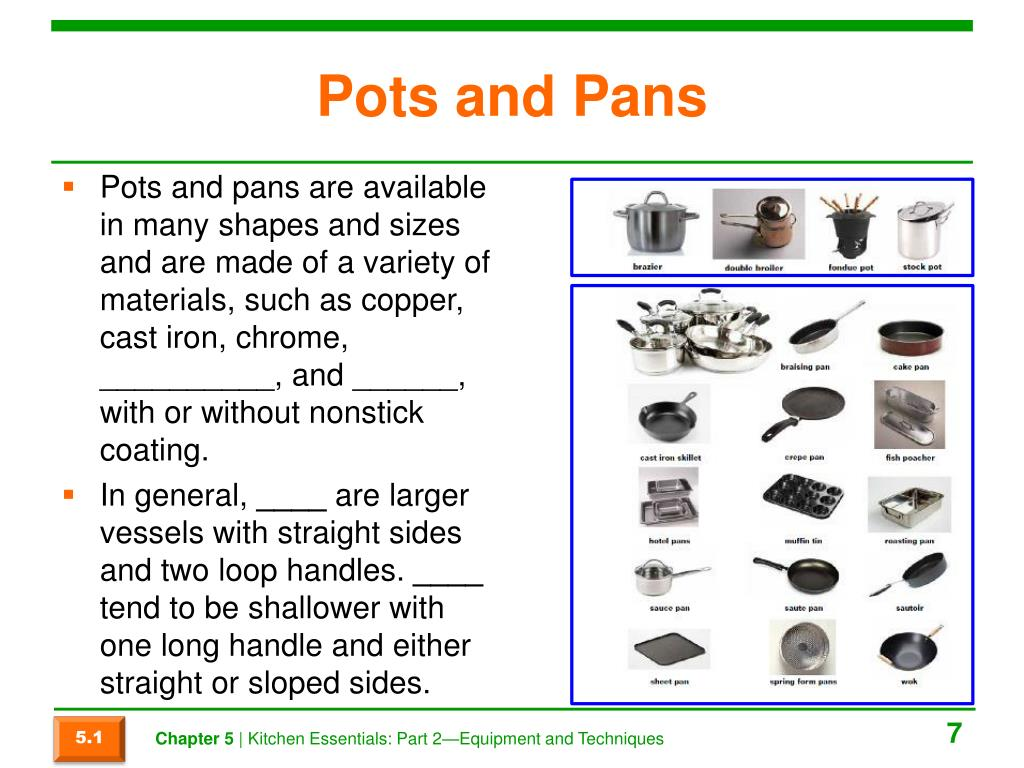 Ppt Chapter 5 Kitchen Essentials Part 2 Equipment And