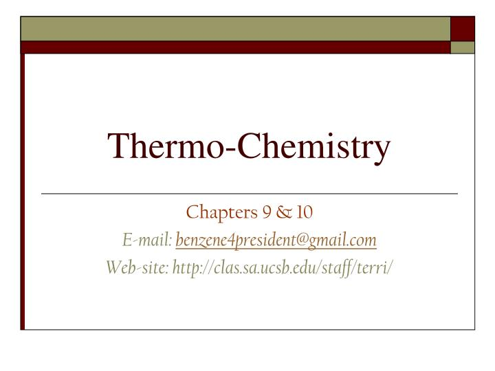 thermo chemistry n.