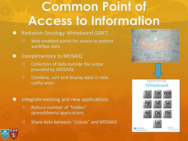 Common Point of Access to Information
