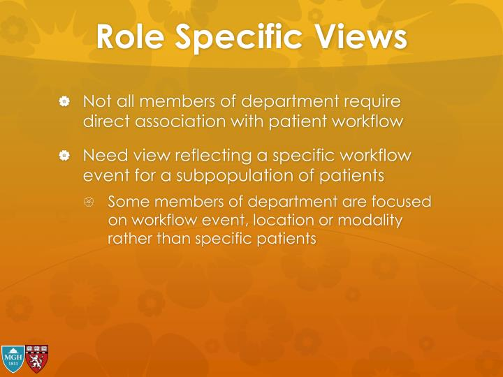 Role Specific Views