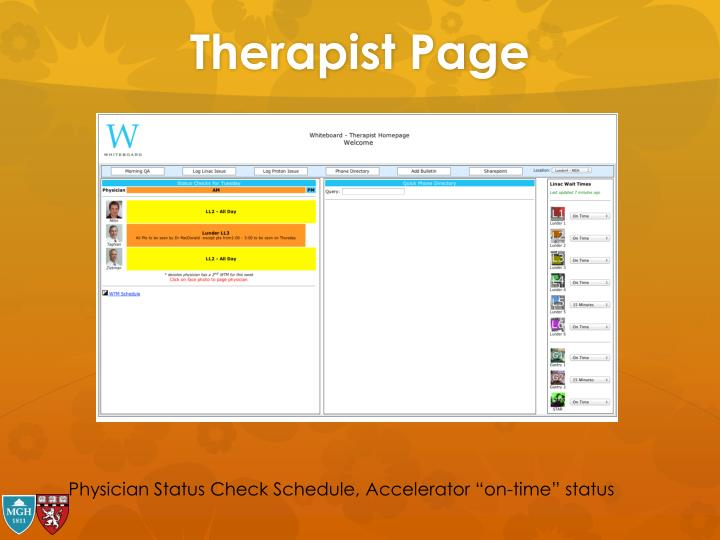 Therapist Page