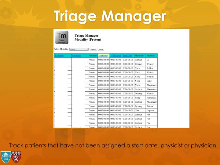 Triage Manager