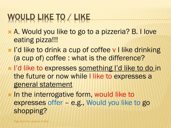 A. Would you like to go to a pizzeria? B. I love eating pizza!!!