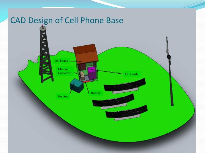 CAD Design of Cell Phone Base