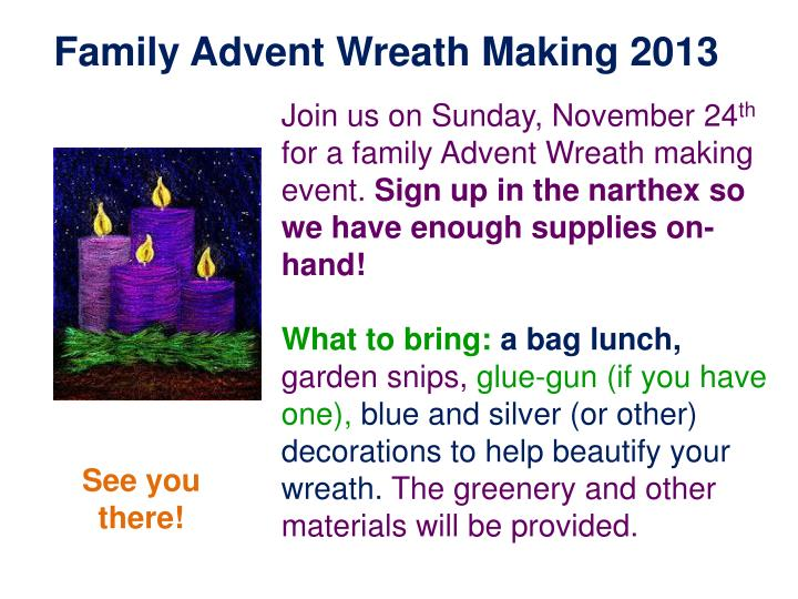 Family Advent Wreath Making 2013