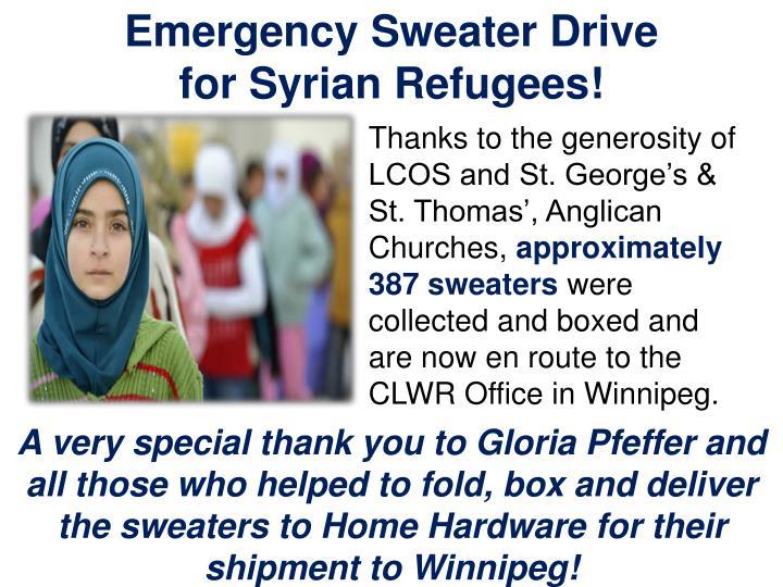 Emergency Sweater Drive