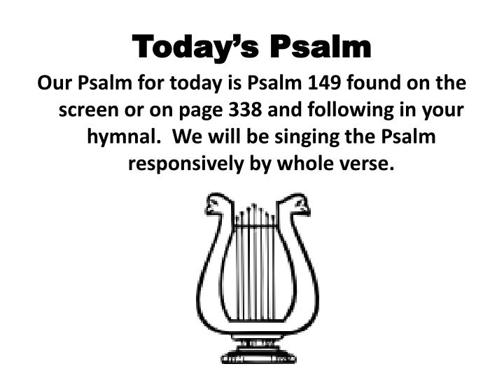 Today s psalm