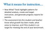 what it means for instruction