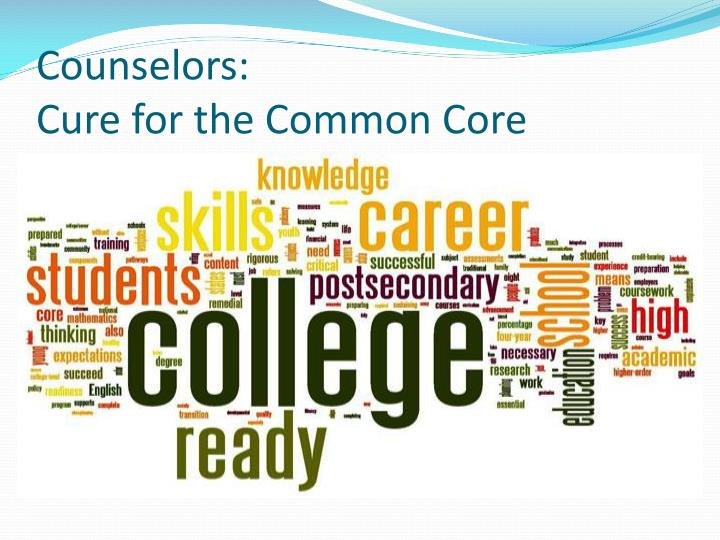 Counselors cure for the common core