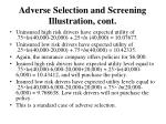 adverse selection and screening illustration cont