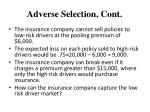 adverse selection cont