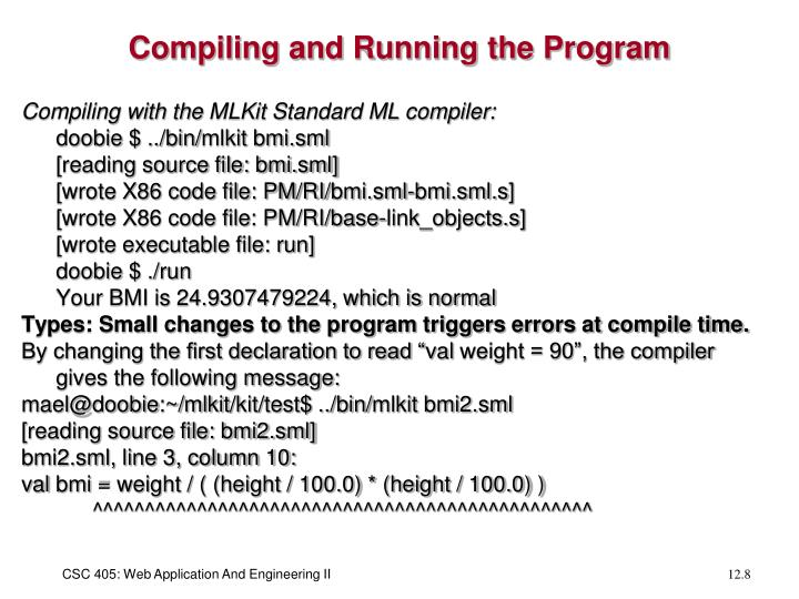 Compiling and Running the Program