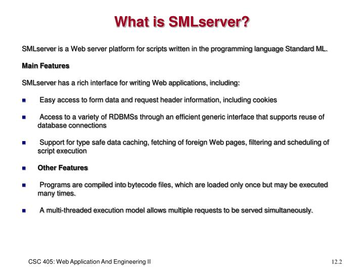 What is smlserver