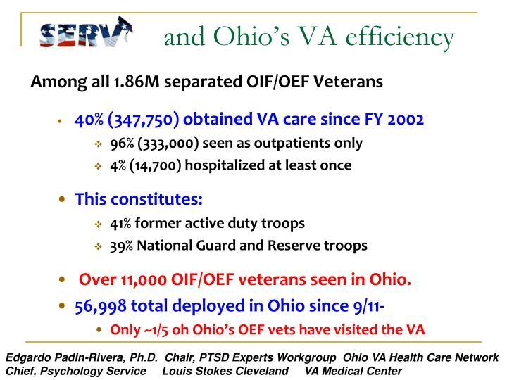 and Ohio's VA efficiency