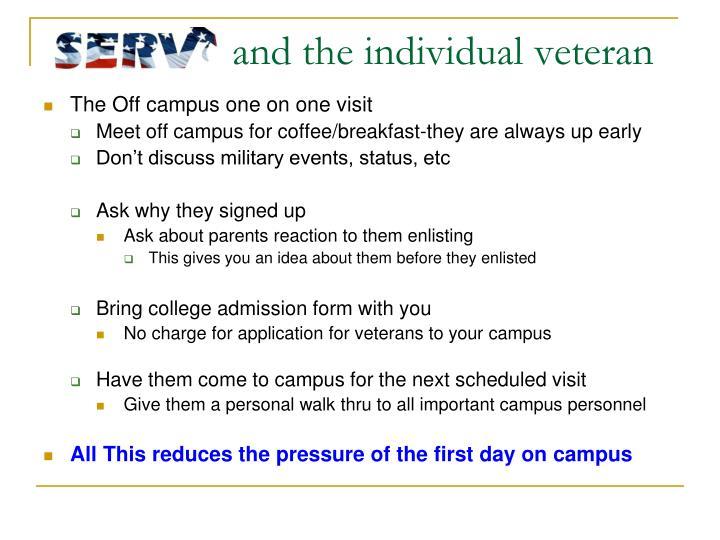 and the individual veteran