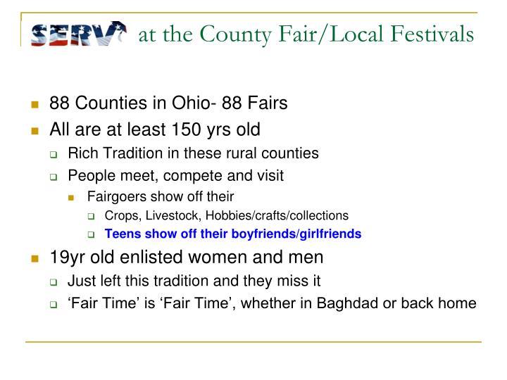 at the County Fair/Local Festivals