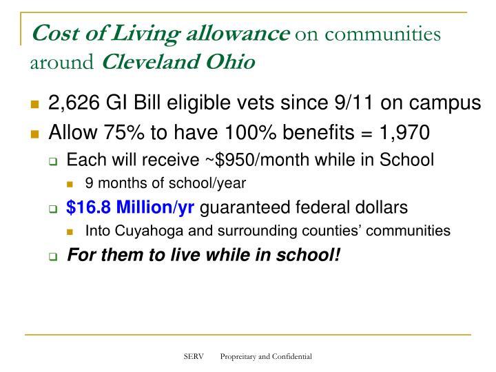 Cost of Living allowance