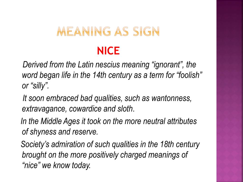 PPT - Chapter 2: Meaning as Sign PowerPoint Presentation - ID:1550774