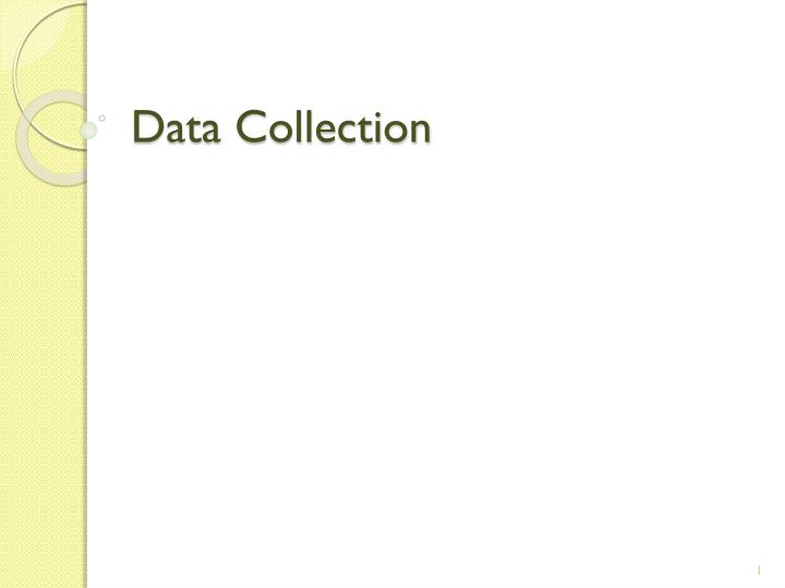 data collection n.