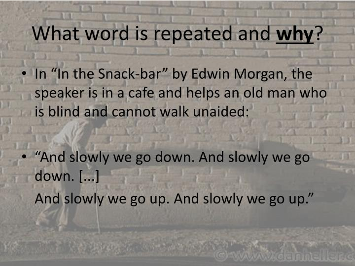 What word is repeated and