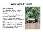 widespread tropics