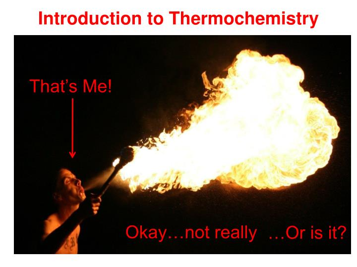 introduction to thermochemistry n.