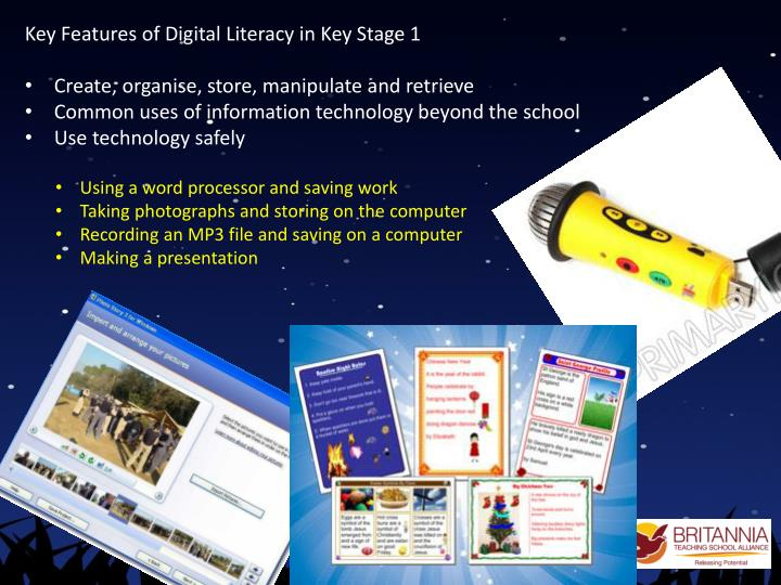 Key Features of Digital Literacy in Key Stage 1