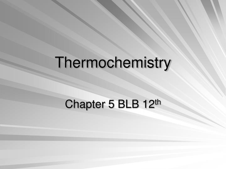 thermochemistry n.