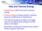 heat and thermal energy1