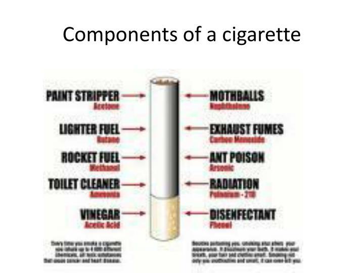 Components of a cigarette